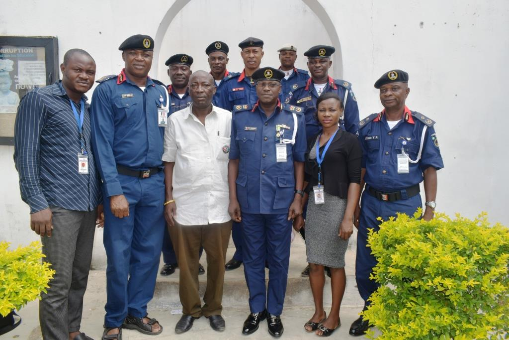 Conscience for Human Rights and Conflict Resolution (CHRCR) Advocacy visit to P. S. Maigari, the Commandant, Nigeria Security & Civil Defence Corps (NSCDC), Kogi State Command,