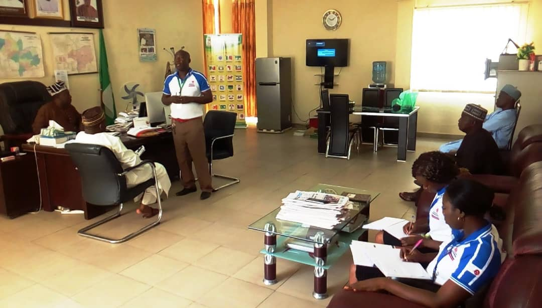 CHRCR Advocacy visit to INEC Office in Lokoja, 23rd October, 2018
