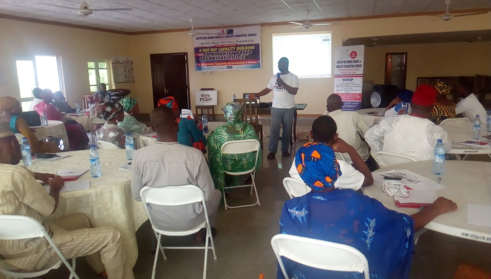 One Day Capacity Building for Community Based Organizations (CBOs) in the Central Senatorial District on Anti-corruption, Transparency and Accountability in Elections organized by CHRCR Today 1st Feb., 2019. @ Okene, Kogi State