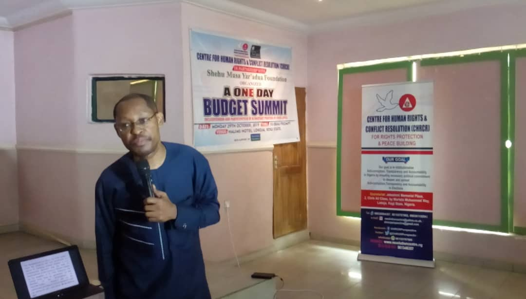 A 1-DAY BUDGET SUMMIT ORGANIZED BY CHRCR
