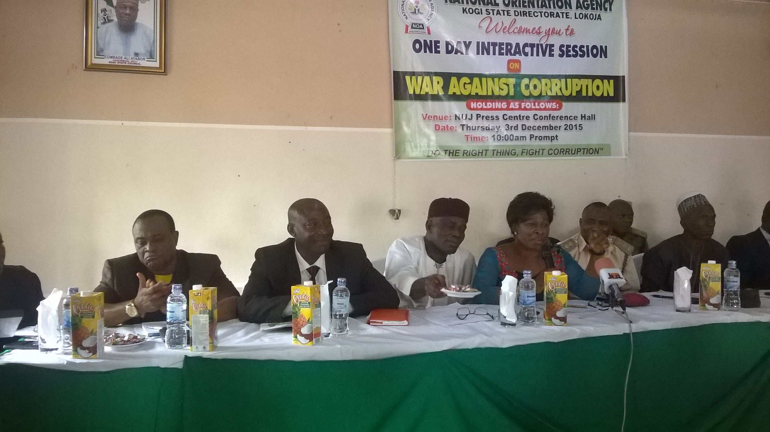 0Idris Miliki, NTA Lokoja GM, ICPC Zonal Commissioner & NOA State Director at an Anti-coruption Seminar in Kogi State.jpg
