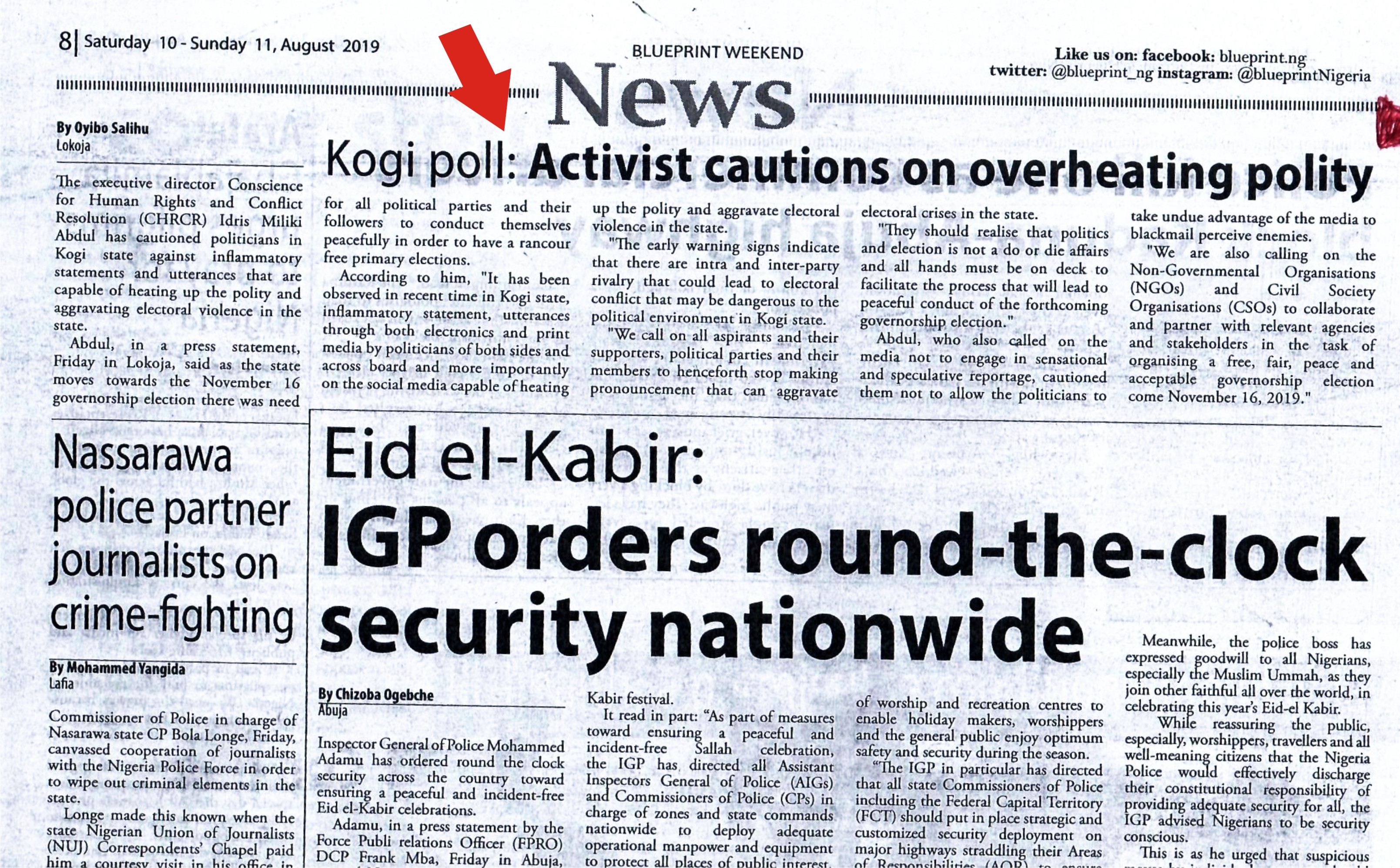 Kogi Poll: Activist Cautions on overheating Polity