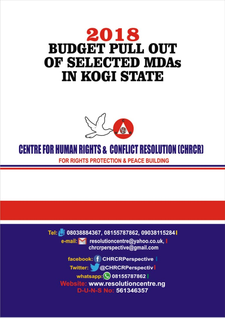 2018 BUDGET PULL OUT OF SELECTED MDAs IN KOGI STATE
